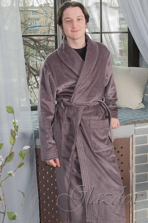 a7aa30e7b8 Cotton Terry Robe   Women s or Men s Robe