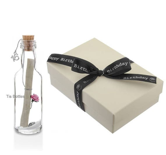 Special 16th Birthday Gift Personalised Message In A Bottle
