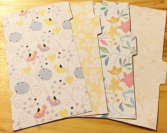 D4 // Set of 4 Spring Themed Dividers