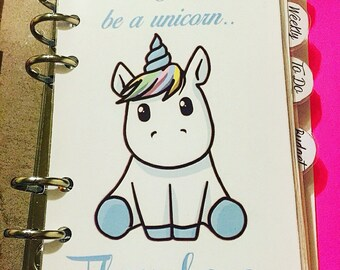 DB4 // Always Be Yourself Unicorn Dashboard for *PERSONAL* Size Planners!