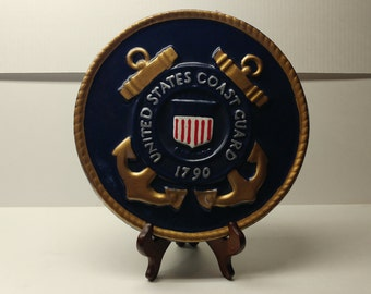 U.S. Coast Guard Military Insignia Decorative Home or Garden Stones