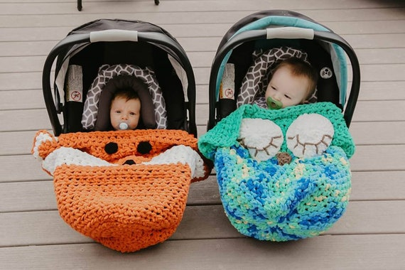 Crochet Car Seat Cozy Blanket, Car Seat Blanket Cover