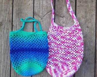 Market bag, Shopping bag, Tote bag, Grocery Bag, Farmers Market Bag, Crochet Bag, Reusable Bag, Market Tote, Reusable Grocery Bag, Crochet