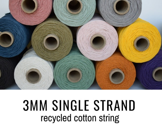 3mm recycled cotton string