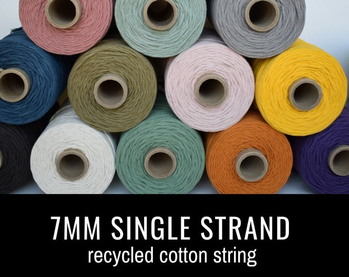 7mm recycled cotton string