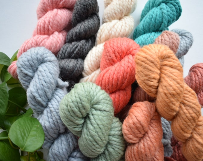 2ply thick merino wool yarn