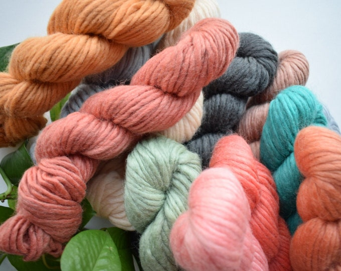 handspun thick merino wool yarn fiber pack