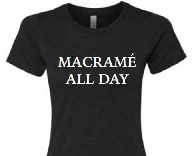 macrame all day t-shirt