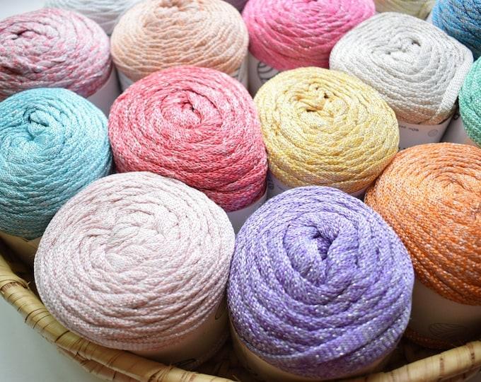 glitter ribbon yarn