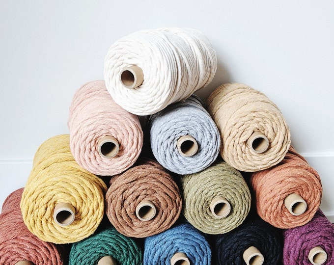 small 5mm recycled cotton string - free US shipping