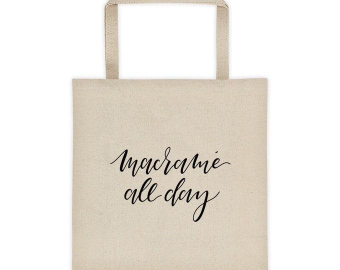 Macrame All Day Tote