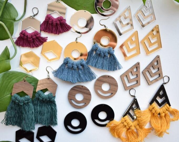 macrame earring findings