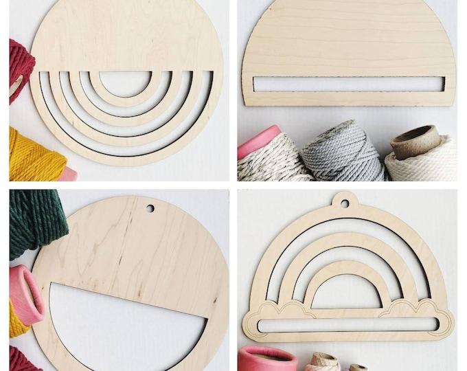 fiber art frame - free US shipping