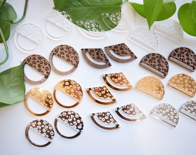 leopard macrame earring findings