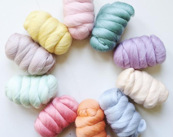 merino wool roving fiber pack