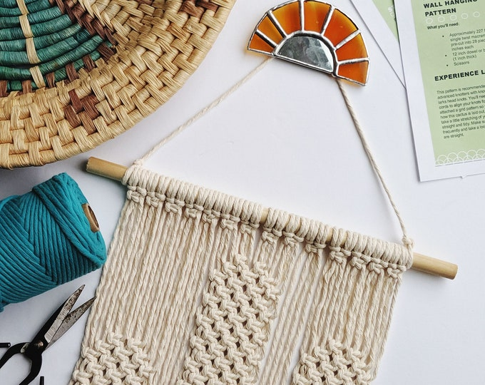 sunset cactus macrame kit