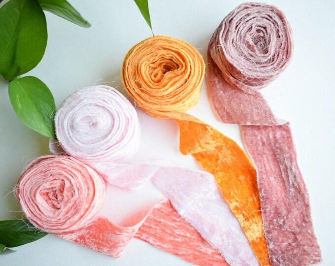 velvet ribbon 4 pack - lahna - free US shipping