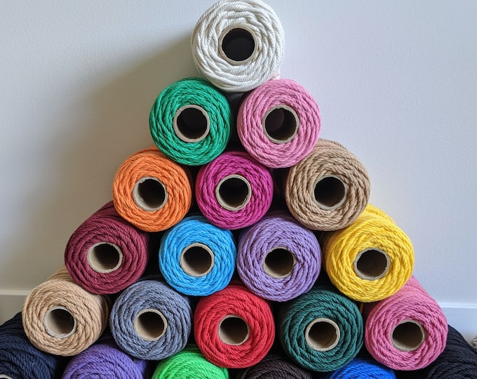 4mm twisted cotton rope - free US shipping - buy 4 get 1 free