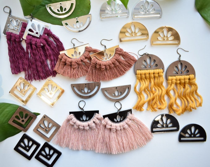 macrame earring findings