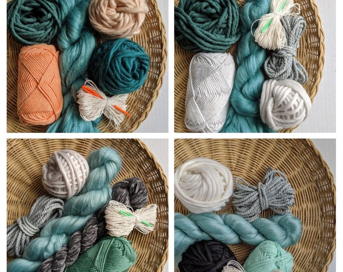 fiber packs and weaving kits