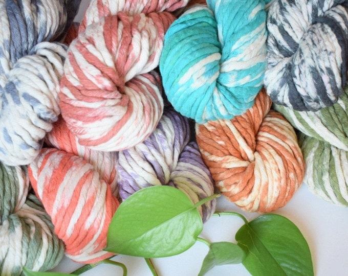 hand dyed 4mm cotton string