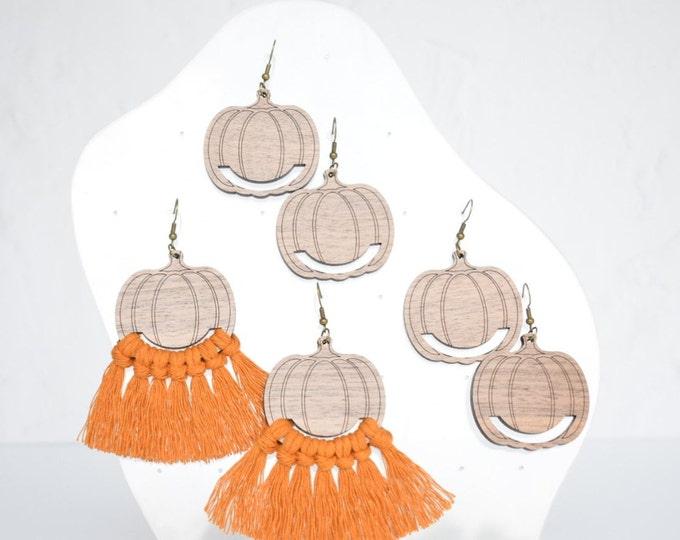 pumpkin macrame earring findings