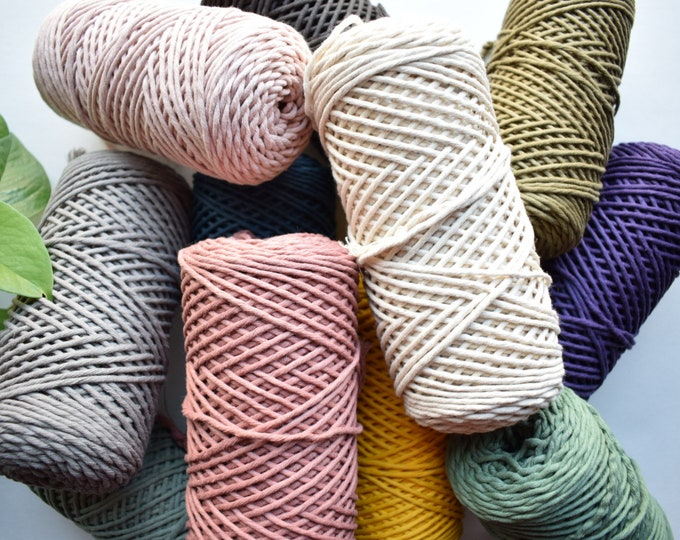 2/4mm mini recycled cotton string
