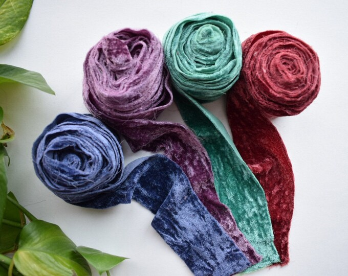 velvet ribbon 4 pack - jewel - free US shipping