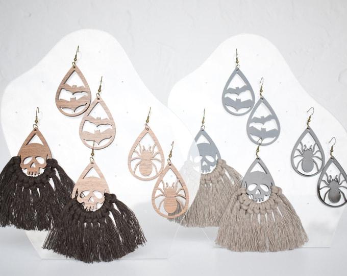 halloween macrame earring findings