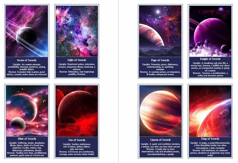 Galaxy Tarot deck  Space Tarot cards  Beginner tarot