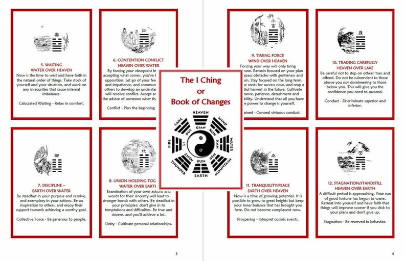 I Ching oracle cards for beginners  Book of Changes  Digital download   Fortune telling  Divination practice