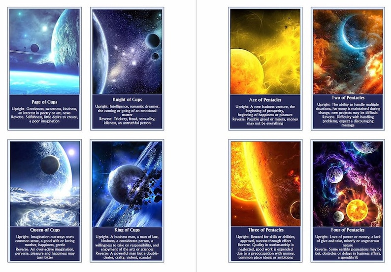Galaxy Tarot deck  Space Tarot cards  Beginner tarot