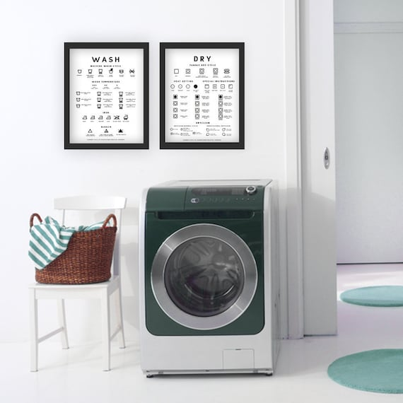 Laundry Room Reference Guide Poster Print Wash Etsy