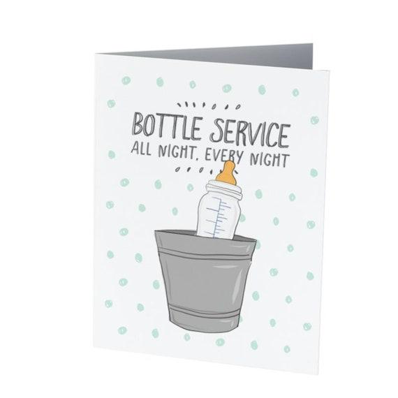 Bottle Service Baby Card