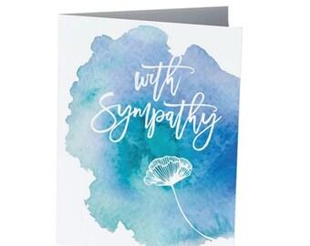 WITH SYMPATHY  |  Condolences Card