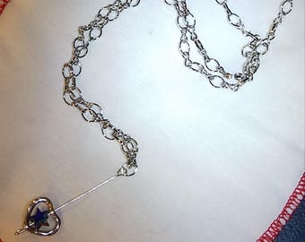 Lovestar State Chain-link Bar Charm Necklace - HARVEY/IRMA Donation Item
