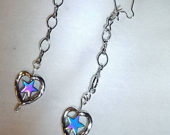 Lovestar State Chain-link Earrings - HARVEY/IRMA Donation Item