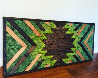 Starburst Moss Wall Art
