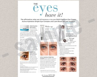 New Products 2017   Active Hydration Bright Eye Complex Intensive Renewing Serum   flyer  Rodan Fields inspired  INSTANT DOWNLOAD