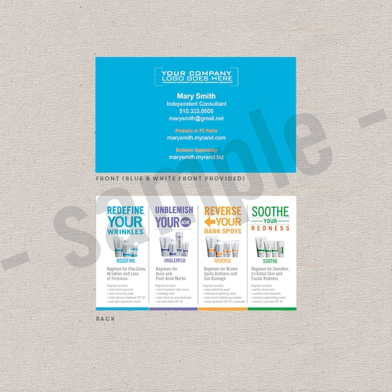 2 Sided Business Cards Editable Instant Download Digital Etsy