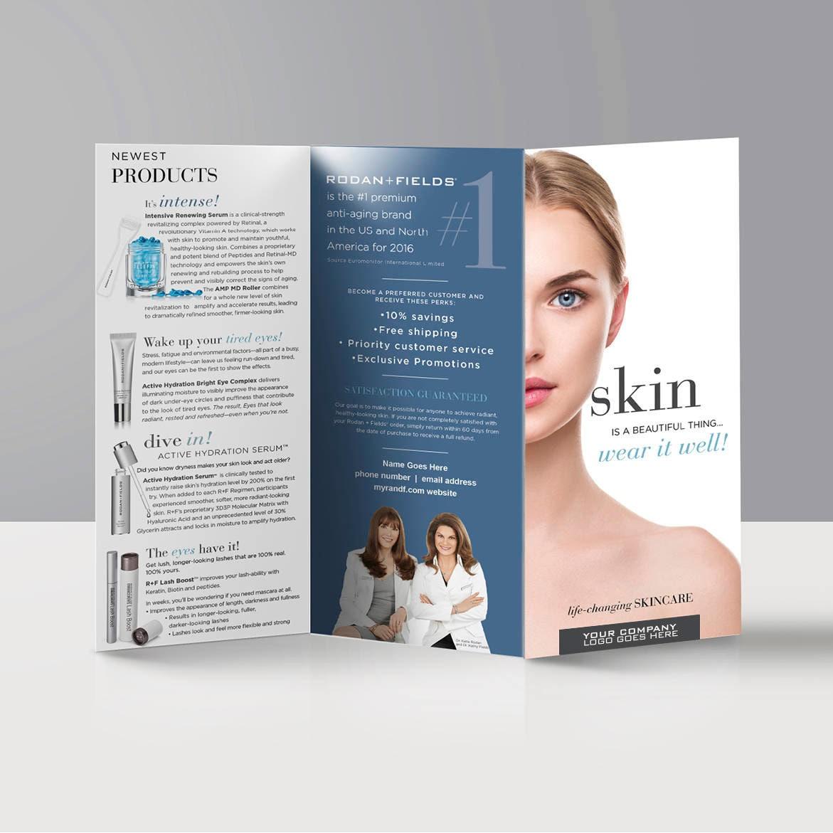 Product Tri Fold Brochure: Tri-fold Brochure // Products // EDITABLE Digital File