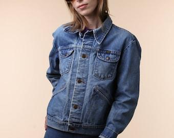 1980's Jean Jacket / Maverick Brand Jean Jacket / 80's Jean Jacket / 70's Jean Jacket