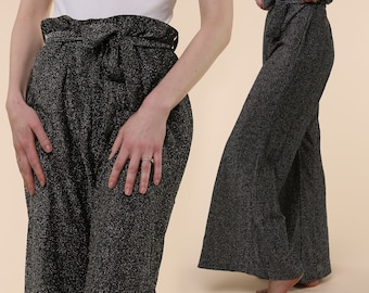 60's Polyglo Palazzo Pants / Disco Glitter Pants / Metallic Palazzo Pants / Metallic Bell Bottoms / 60's Palazzo Pants