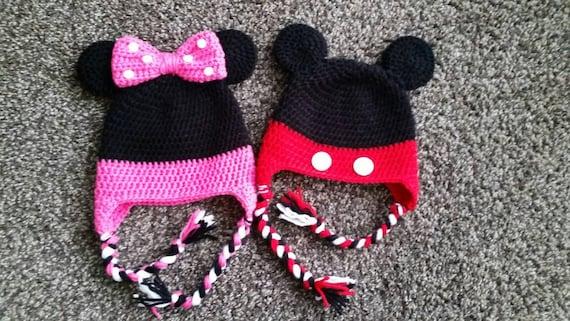 Häkeln Minnie Maus Hut/häkeln Mickey Mouse Hut/Micky Maus   Etsy