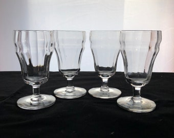 Depression-Era Cordials with Molded facets, Depression Glass, Set of FOUR (4)