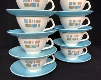 Cannonsburg Temporama Teacup And Saucer, Three (3) available
