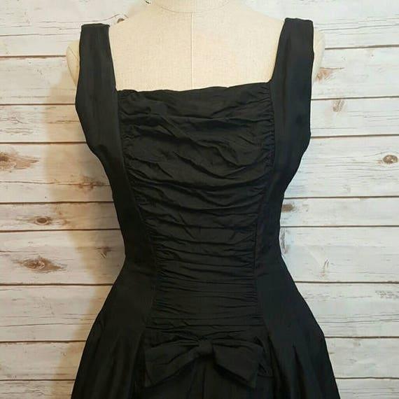 Vintage,1950's,  Suzy Perette black cocktail dress