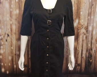vintage, 90's, Thierry Muegler LBD/ buckle dress, Small