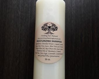 MOISTURIZING SHAMPOO- detangling, no sulfates, natural hair, shampoo, all natural, softening, curls, moisturizing, healthy hair, curly hair