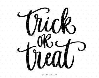 Trick or treat Halloween Svg cut file